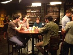 The guys of #GIRLS shoot with Lena Dunham