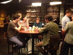 The guys of #GIRLS shoot with Lena Dunham