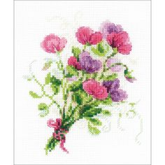 Bouquet With Sweet Peas Counted Cross Stitch Kit