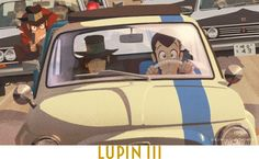 Lupin The Third, Anime Figures, Me Me Me Anime, Manga Anime, Animation, Fiat 500, Film, Boss, Cartoons