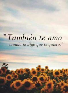 Y te quiero mucho...