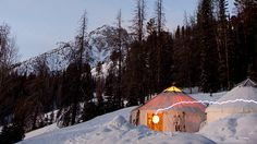 Fully-equipped tours and luxury yurts open up remote Idaho to skiiers and climbers.