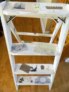 decoupaged ladder
