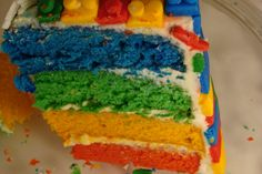 LEGO Cake Ideas | No, that is not paint, its cake batter! This is what happens when a ...