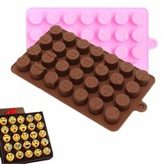 New Flexible Silicone Emoji Expression Cake Chocolate Candy Fondant Mold Mould
