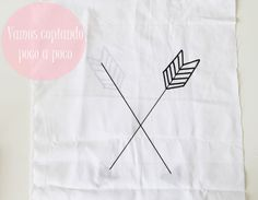 banderín de flechas cruzadas. Crossed arrow diy tutorial