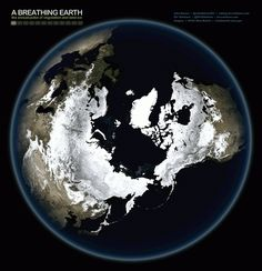 Watch the Earth breathing: Mesmerising animation shows our planet's 'heartbeat' as the seasons change over a year | Mail Online