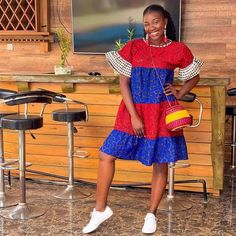 African Print Short Gown Style With Sneakers Ankara Short Flare Gowns, Latest Ankara Short Gown, Short African Dresses, Ankara Short Gown Styles, Trendy Ankara Styles, Short Gowns, African Fashion Dresses, Fashion Outfits, Fashion Styles