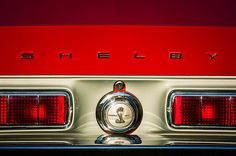Shelby Images by Jill Reger - Images of Shelby -  1968 Shelby Gt500 Kr Fastback Rear Emblem
