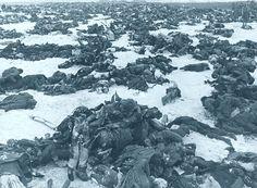 Soldats allemands morts après la bataille de Stalingrad. 1943