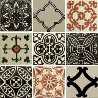 Black and white tiles in classical designs but with a twist for modern tastes exclusively crafted by Old World Tiles - our renowned quality and reputation. Victorian Room Divider, Victorian Decor, Brick Look Tile, Mediterranean Tile, Patchwork Tiles, Arabesque Tile, Unique Tile, Traditional Tile, Feature Tiles