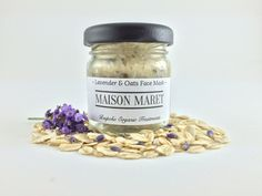Lavender & Oats Face Mask - Maison Maret - GlowInside & Out - Combine lavender, oats and honey for aninstant boost to your complexion. Lavender & oats moisturise your skin and give a gentle scrub to remove any impurities. Together with honey, a powerful humectant that draws in water and hydrates your skin, you will glow for days afterwards. Prepare for heads to turn.