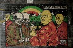 Broken Fingaz - New Murals @ London, UK