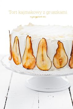 Tort kajmakowo - gruszkowy