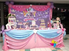 My Little Pony party ideas: Cake table decor