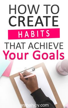 Discover how to create new habits and actually achieve your goals. Let these practical Christian living tips help you set goals and take steps to acheive them. || Arabah Joy #setgoals #goalsetting #goalsettingtips #howtosetgoals #arabahjoy