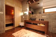 Contemporary Bathroom Contemporary Bath Vanity Next To Stone Wall And Stone Sink With Wooden Framed Mirror Design, Pictures, Remodel, Decor and Ideas - page 8