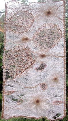 Adventures Textiles: May 2005 Textile Texture, Textile Fiber Art, Textile Artists, Texture Art, Art Fibres Textiles, Sculpture Textile, Creative Textiles, Nuno Felting, Fabric Manipulation