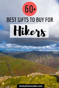 Cool Hiking + Outdoor Gift Ideas (For Men + Women). Lots of gift inspiration with this great list of hiking gifts for everyone. Unique gifts, gifts on a budget and some awesome gadget gifts for him and for her.