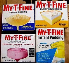 My-T-Fine puddings     by mankatt, via Flickr