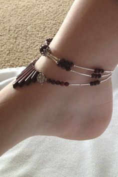 Red Tiger Eye Princess Anklet by AshleysElegance on Etsy..must try for summer