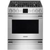 Shop Frigidaire Professional 5-Burner Freestanding 5.1-cu ft Self-Cleaning Convection Gas Range (Smudge-Proof Stainless Steel) (Common: 30-in; Actual: 30-in) at Lowes.com