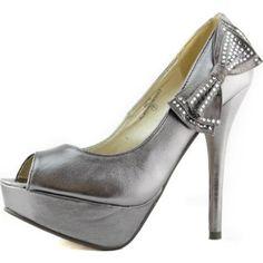 Amazon.com: Women's Platform Peep Toe Side Bow Decorated Stilettos High Heel Party Dress Sandal Pump Fashion Shoes: Shoes