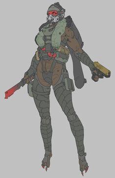 Sci-Fi Armor Design by Lee Yeong gyun Armor Concept, Concept Art, Character Concept, Character Art, Arte Ninja, Futuristic Armour, Arte Cyberpunk, Sci Fi Armor, Science Fiction