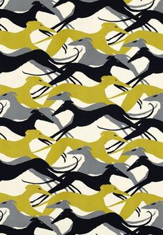 1950s Wallpaper on Hunter   Uk Interiors   Lifestyle Blog   Home   Greyhound Wallpaper