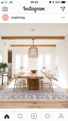 A modern farmhouse dining room might just be the dining room design of your dreams. A farmhouse dining room is a gorgeous dining room design that has a very bright tone. It is a combination of a traditional dining house… Continue Reading → Home Design, Design Ideas, Design Trends, Colour Trends, Design Projects, Key Design, Blog Design, Wood Projects, Home Living