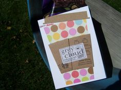 Handmade Starbucks Thank You Card  'Just Wanted by GreyCloudCardCo
