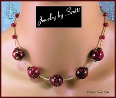 Berry Merry Red Coral and Vintage Bead Necklace // SRAJD #etsybot #etsyretwt