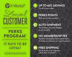 New loyal customer 90 day challenge! Join for three free months of loyal customer perks and prices for your favorite natural health and beauty products! It Works Wraps, My It Works, It Works Party, It Works Loyal Customer, It Works Marketing, It Works Distributor, Independent Distributor, It Works Global, It Works Products