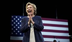 SEVEN MORE HILLARY CLINTON SCANDALS EXPOSED BY WIKILEAKS -- Democratic presidential candidate Hillary Clinton takes the stage at a fundraiser at the Civic Center Auditorium in San Francisco, Thursday, Oct. 13, 2016. (AP Photo/Andrew Harnik)