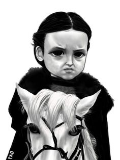 """[EVERYTHING] Lady Lyanna """"I don't need your permission to defend the North"""" Mormont Game Of Thrones Jewelry, Game Of Thrones Fans, Basic Drawing, Daily Drawing, Lady Lyanna Mormont, Children Of The Forest, Bear Island, The North Remembers, King In The North"""