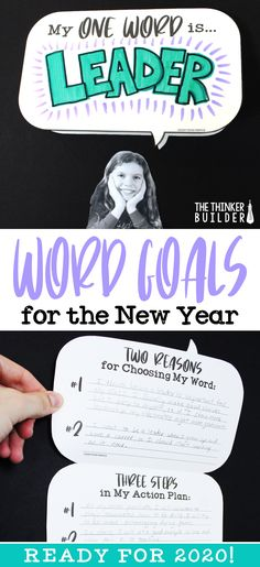 Get students setting focused, one-word goals for the new year! Like a New Year's resolution, but more powerful, simple, and with a cooler bulletin board. (The Thinker Builder) Holiday Student Word Goals for the New Year 4th Grade Classroom, Future Classroom, Classroom Ideas, Cool Bulletin Boards, Growth Mindset Classroom, New Years Activities, Holiday Activities, Goals Tumblr, 4th Grade Writing