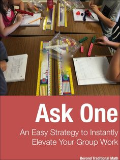Ask One is a cooperative learning strategy that's easy to implement in math. It will instantly elevate your group work and make it more effective.