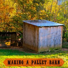 In a previous post shared our quick pallet shelter, but I also wanted to show how you can make a more permanent barn out of pallets. We made this pallet ba