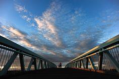 Bridge at sunset in Fredericton, New Brunswick, Canada. New Brunswick, Bridge, Walking, Canada, Sunset, Jogging, Woking, Sunsets, Bro