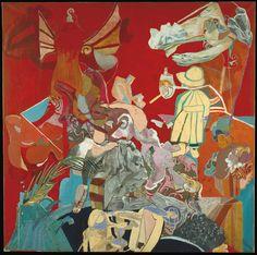 Paula Rego (1935) Self-Portrait in red 1962