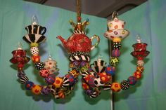 Teaset chandelier by UK artist Mary Rose Young