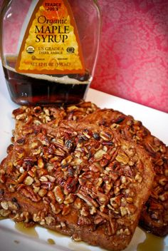 Vegan Pecan Crusted French Toast | GillyCakes