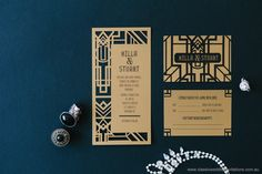 GOLD wedding invites, perfect for the modern industrial wedding.