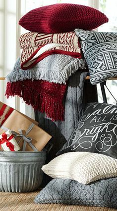 Christmas pillows. Make from old Christmas sweaters!!!