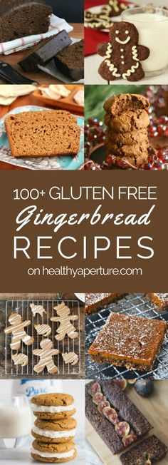 Looking for a gluten free gingerbread recipe? Try one of these 100+ healthy holiday baking recipes!
