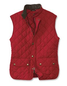 burberry silk scarf outlet g2qx  Barbour Lowerdale Gilet in red from Orvis