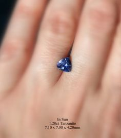 Video 1.20ct Tanzanite available for a custom jewelry design of your choice by AleaMariCo