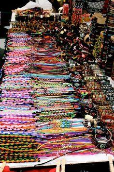 I go crazy for bracelets when I go home! Summer Bracelets, Cute Bracelets, Ankle Bracelets, Colorful Bracelets, Cute Jewelry, Diy Jewelry, Jewelery, Jewelry Accessories, Thread Bracelets