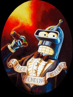 "#LikeASir Bender Bending Rodriguez in ""Bendington"" by Darttheold | #Futurama"