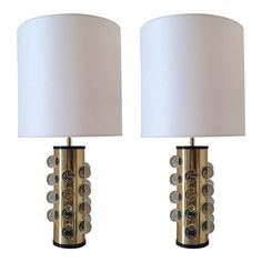 Pair of Italian Table Lamps, circa 1980 | From a unique collection of antique and modern table lamps at https://www.1stdibs.com/furniture/lighting/table-lamps/